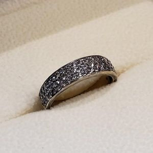 Size 7.5 gold plated diamond ring